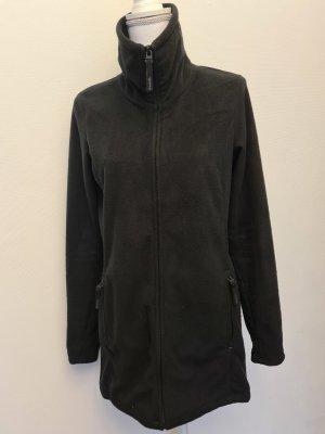 Bench Fleece Jacke langes Sweatshirt mit Reißverschluss Zipper in schwarz Gr. S