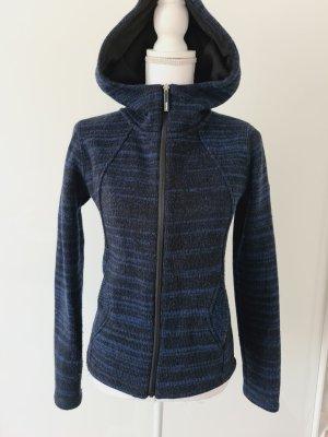 Bench Fleece Wolle Strickjacke Sweaterjacke mit Kapuze in schwarz blau S