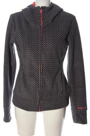 Bench Fleece Jackets black-light grey allover print casual look