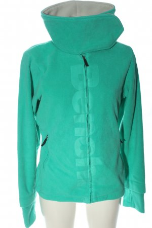 Bench Fleece Jackets turquoise printed lettering casual look