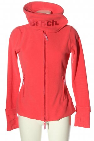 Bench Fleece Jackets red embroidered lettering casual look