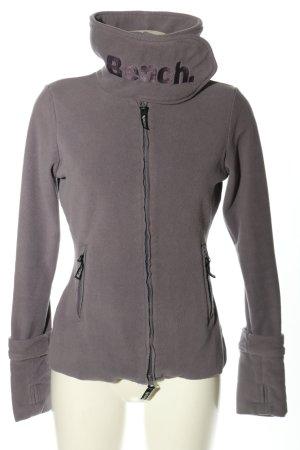 Bench Fleece Jackets light grey-black printed lettering casual look