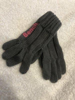 Bench Gebreide handschoenen grijs-framboosrood