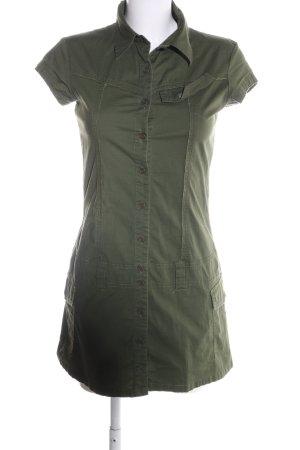 Bench Hemdblusenkleid khaki Schriftzug gedruckt Casual-Look