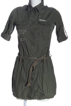 Bench Hemdblusenkleid khaki-weiß Motivdruck Casual-Look