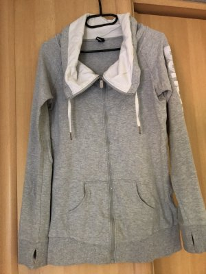 Bench Giacca fitness bianco-argento Cotone