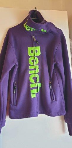 Bench Giacca in pile viola scuro-verde prato