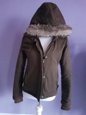 Bench Kurtka zimowa szaro-brązowy