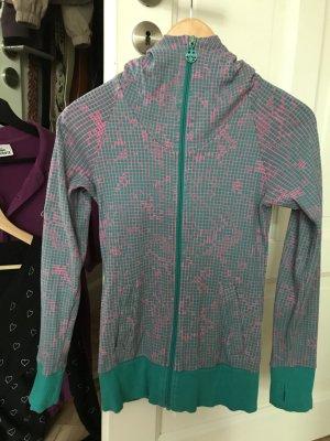 Bench Jacke pink türkis Größe S 36 mit Kapuze Zipper