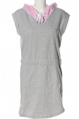 Bench Hooded Dress light grey-pink flecked casual look