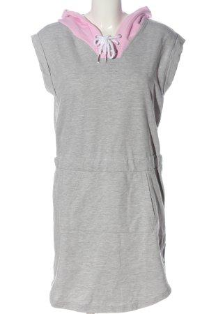 Bench Robe à capuche gris clair-rose moucheté style décontracté