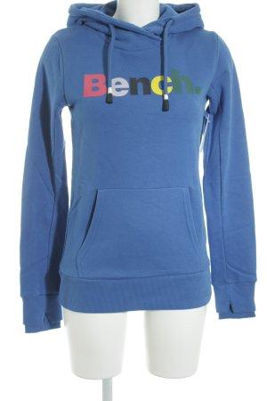 Bench Kapuzenshirt blau Schriftzug gedruckt Casual-Look