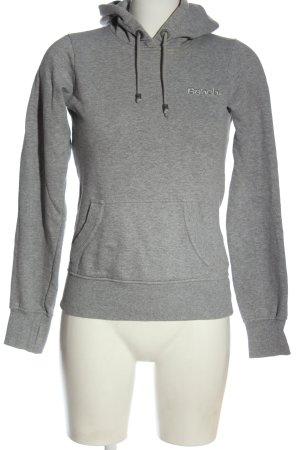 Bench Kapuzensweatshirt hellgrau meliert Casual-Look