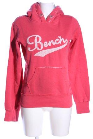 Bench Kapuzensweatshirt pink Schriftzug gestickt sportlicher Stil
