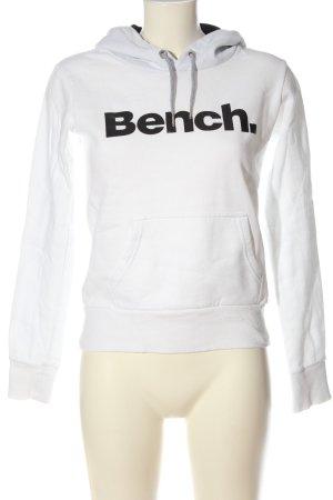 Bench Sweat à capuche blanc-noir lettrage imprimé style décontracté