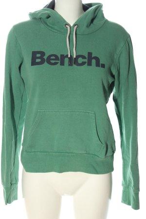 Bench Sudadera con capucha verde letras impresas look casual