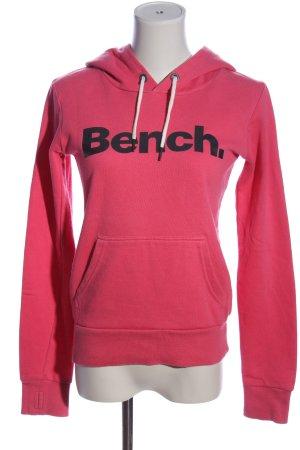 Bench Kapuzensweatshirt pink Schriftzug gedruckt Casual-Look