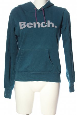 Bench Kapuzensweatshirt blau Schriftzug gedruckt Casual-Look