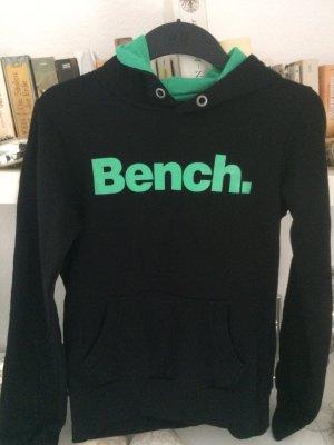 Bench-Kapuzensweatshirt / Gr. S/M / schwarz-grün