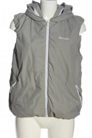 Bench Hooded Vest light grey-white printed lettering casual look