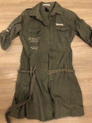 Bench Shirtwaist dress green grey cotton