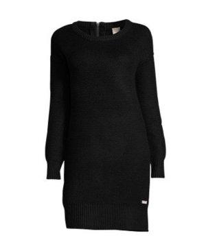 bench kleid strickkleid schwarz 34 xs