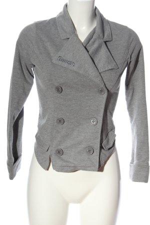 Bench Blazer corto grigio chiaro puntinato stile casual