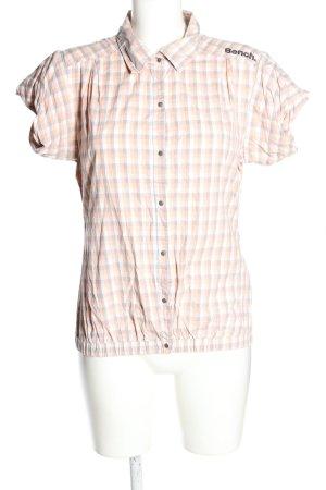 Bench Kurzarm-Bluse weiß-creme Allover-Druck Casual-Look