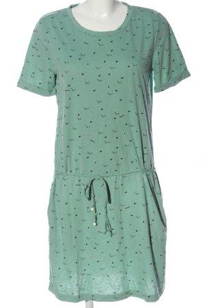 Bench Robe à manches courtes vert-noir imprimé allover style décontracté
