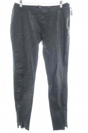 Bench Leather Trousers black biker look