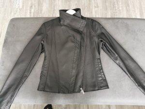 Bench Veste en cuir noir