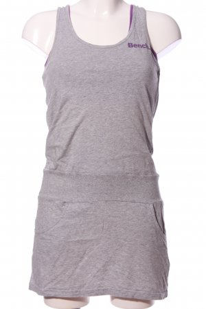 Bench Minikleid hellgrau-lila meliert Casual-Look