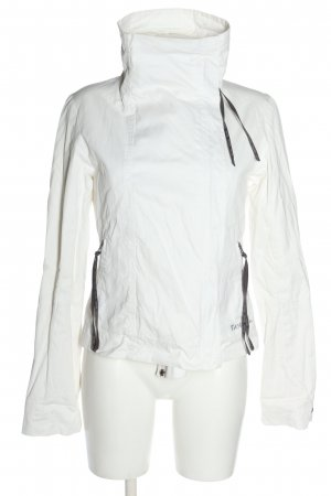 Bench Outdoorjacke weiß-schwarz Casual-Look