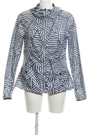 Bench Outdoorjacke weiß-schwarz abstraktes Muster sportlicher Stil