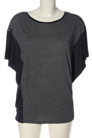 Bench Oversized Shirt hellgrau-schwarz meliert Casual-Look