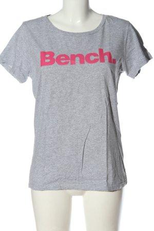 Bench Koszulka z nadrukiem jasnoszary-różowy Melanżowy Elegancki