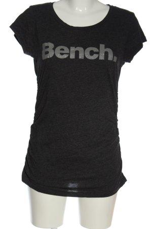 Bench Camiseta estampada negro-color plata letras impresas look casual