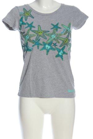 Bench Print-Shirt hellgrau-türkis meliert Casual-Look