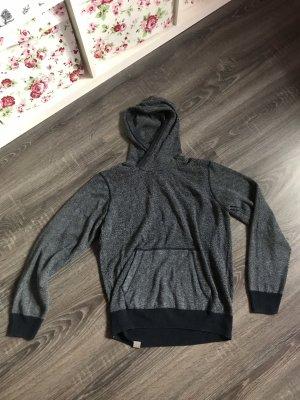 Bench Pullover Kapuzenpullover Sweatshirt blau weiß meliert