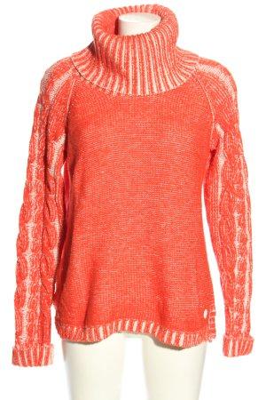 Bench Maglione dolcevita rosso-bianco puntinato stile casual