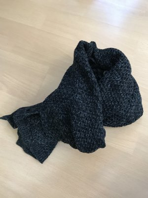 Bench Knitted Scarf black-silver-colored cotton