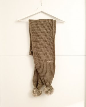 Bench Knitted Scarf light brown-khaki