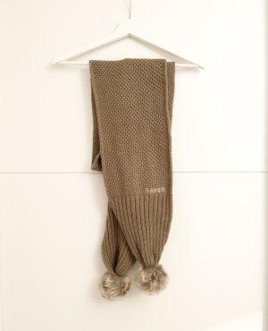 Bench Écharpe en tricot marron clair-kaki