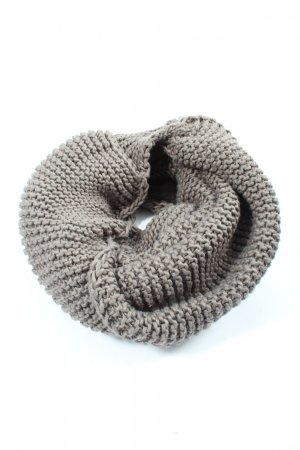 Bench Tube Scarf light grey cable stitch casual look