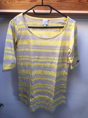 Bench Shirt 3/4 Arm Größe M Gelb/Grau gestreift