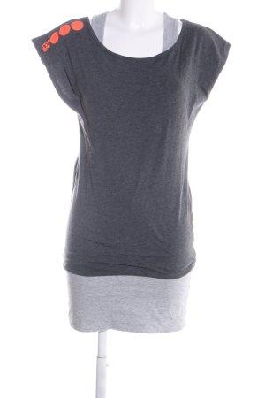 Bench Shirtkleid hellgrau meliert Casual-Look