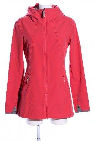 Bench Softshell Jacket red printed lettering casual look