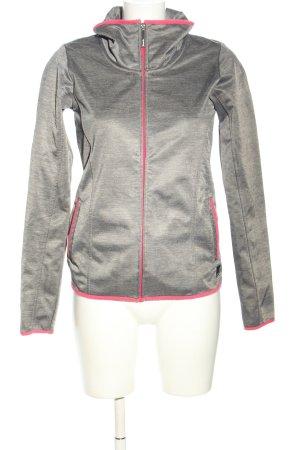 Bench Softshelljacke hellgrau-pink meliert Casual-Look