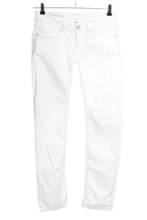 Bench Jeansy z prostymi nogawkami biały W stylu casual
