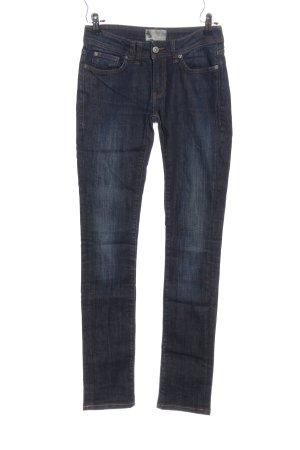 Bench Jeansy z prostymi nogawkami niebieski W stylu casual